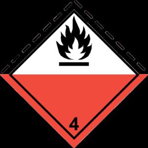 simbolo-adr-classe4-numero4.1-materie-solide-infiammabili-materie-autoreattive-materie-che-polimerizzano-e-materie esplosive-solide-desensibilizzate