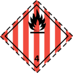 etichetta-adr-classe-4.1-solidi-infiammabili-materie-autoreattive-esplosivi solidi desensbilizzati